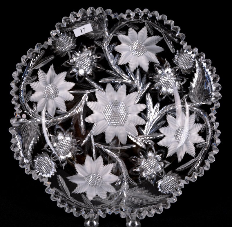 """ROUND TRAY - 11.75"""" - ABCG - SIGNED LIBBEY"""
