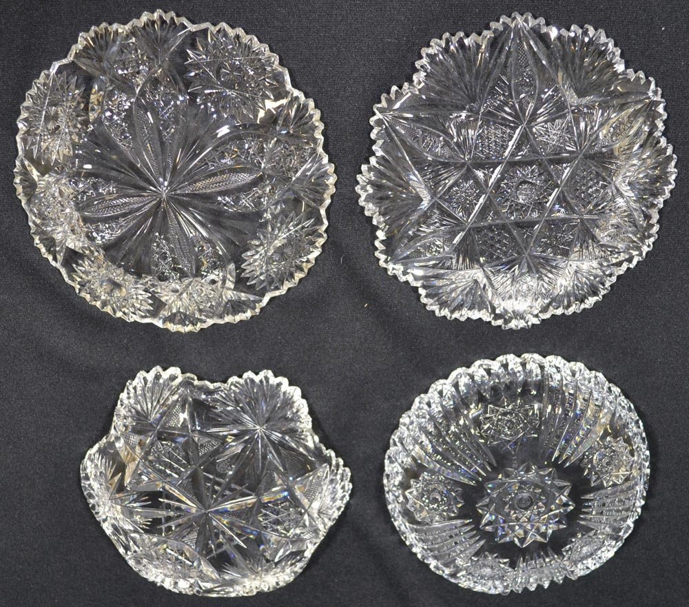 "(4) 7"" DISHES AND PLATES - ABCG - 3"