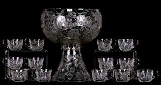 """PUNCH SET - 14"""" X 11.5"""" TWO-PART PUNCH BOWL - ABCG"""