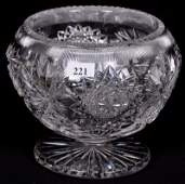 """FOOTED ROSE BOWL - 5.5"""" X 6.5"""" - ABCG"""