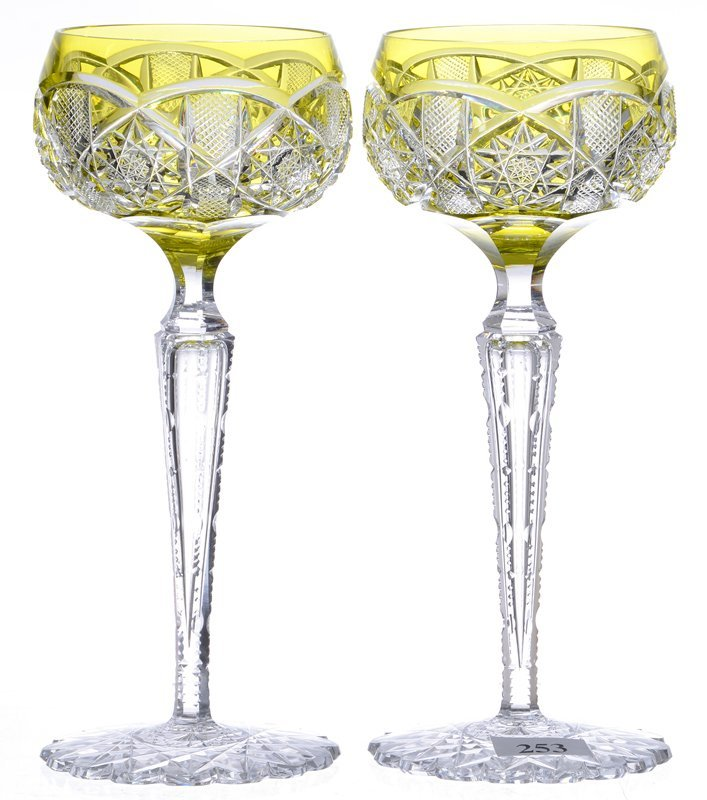 PAIR RHINE WINES - 7.75""