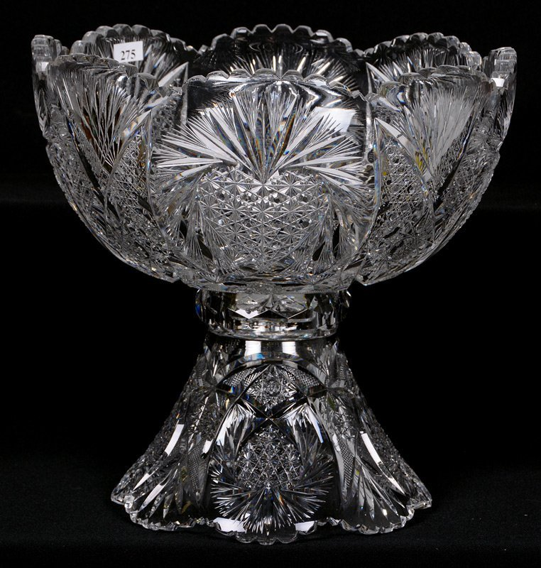 "TWO-PART PUNCH BOWL - 12"" X 12"" - ABCG"