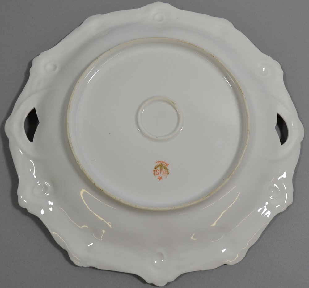 "10.5"" RSP RIBBON AND JEWEL MOLD TWO-HANDLED CAKE PLATE - 3"