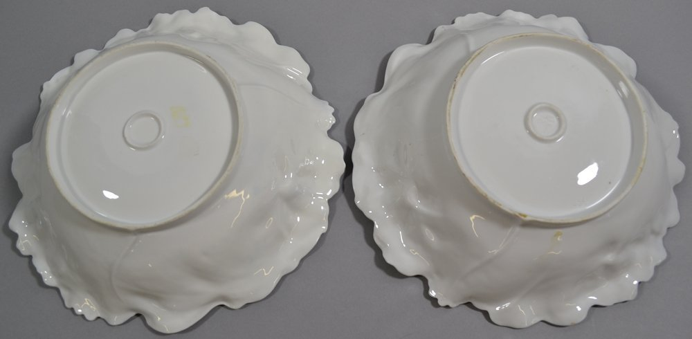"""PAIR 10"""" UNMARKED R.S.PRUSSIA IRIS MOLD VARIATION BOWLS - 3"""