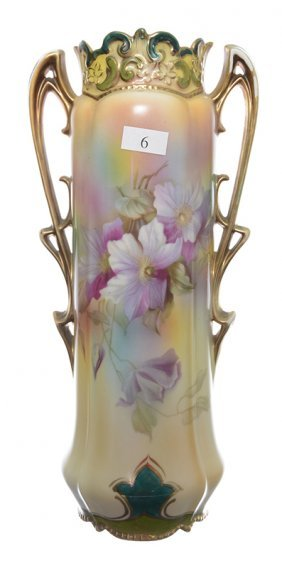 "11.75"" MARKED ROYAL VIENNA TWO-HANDLED VASE"