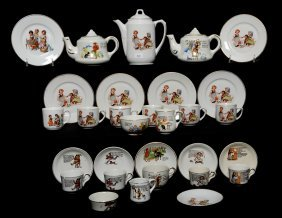 (28) PIECE CHILD'S TEA SETS