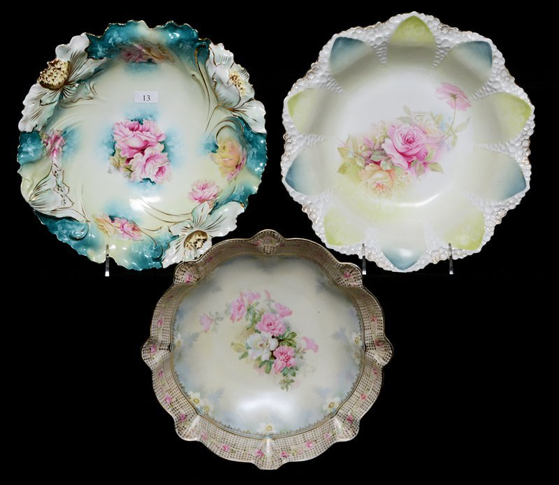 (3) R.S.PRUSSIA BOWLS INCLUDING