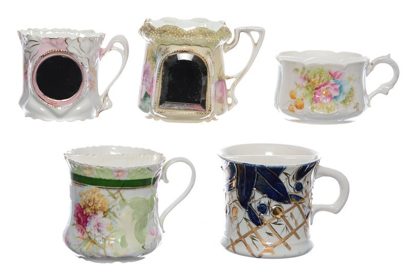 (5) R.S.PRUSSIA AND GERMANY SHAVING MUGS INCLUDING