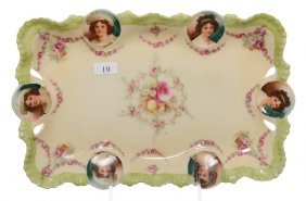 "11.75"" RSP MEDALLION MOLD DRESSER TRAY"