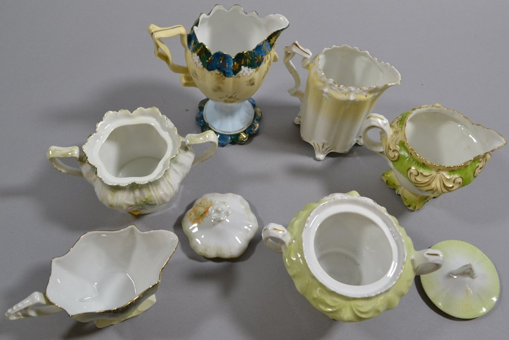 (13) ASSORTED R.S.PRUSSIA AND PRUSSIA STYLE CREAMERS - 6