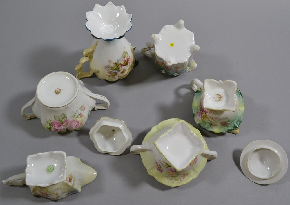 (13) ASSORTED R.S.PRUSSIA AND PRUSSIA STYLE CREAMERS - 7