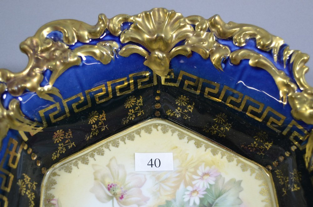 """10.75"""" UNMARKED R.S.PRUSSIA SIX-SIDED BOWL - 2"""