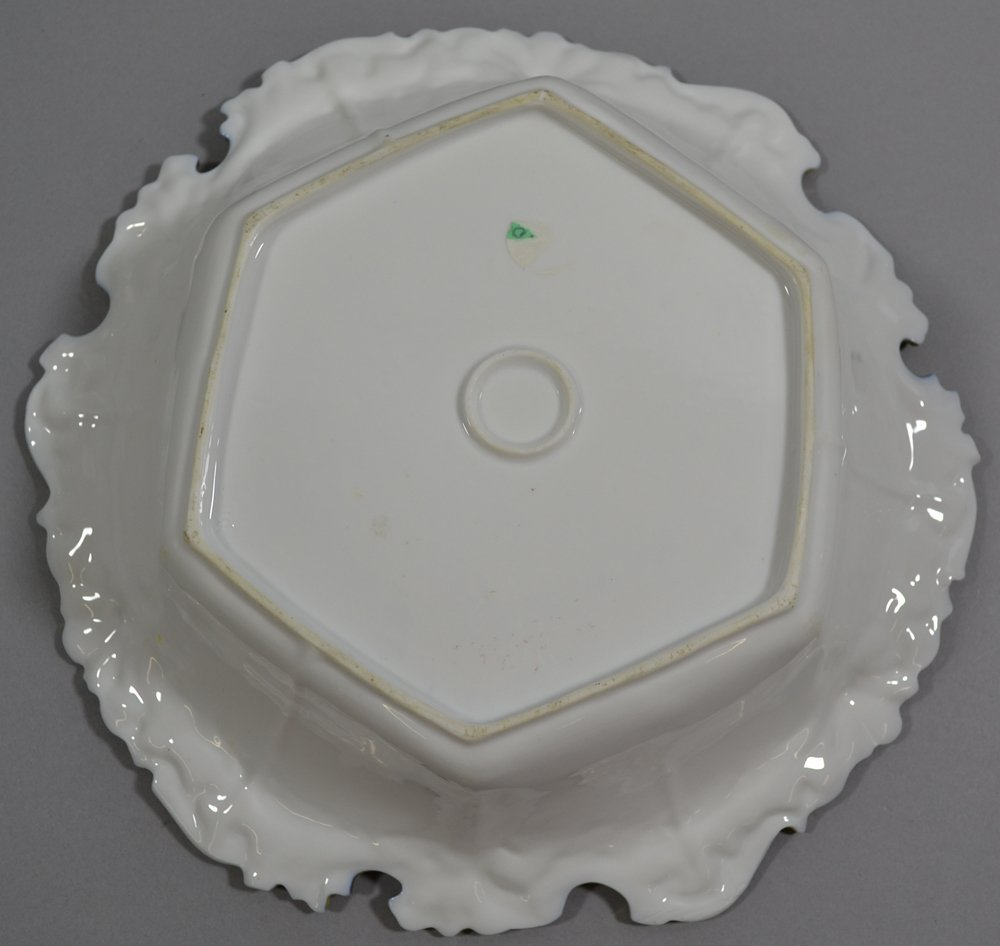 """10.75"""" UNMARKED R.S.PRUSSIA SIX-SIDED BOWL - 3"""