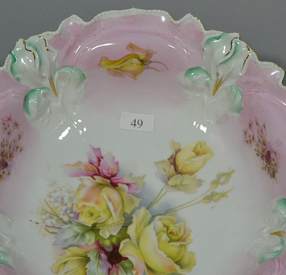 (2) R.S.PRUSSIA IRIS MOLD BOWLS - 2