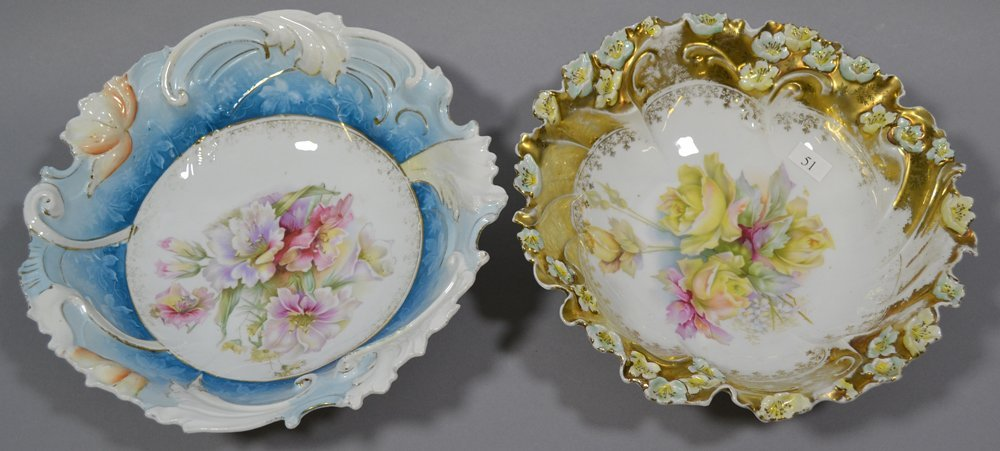 (4) UNMARKED R.S.PRUSSIA BOWLS INCLUDING - 2