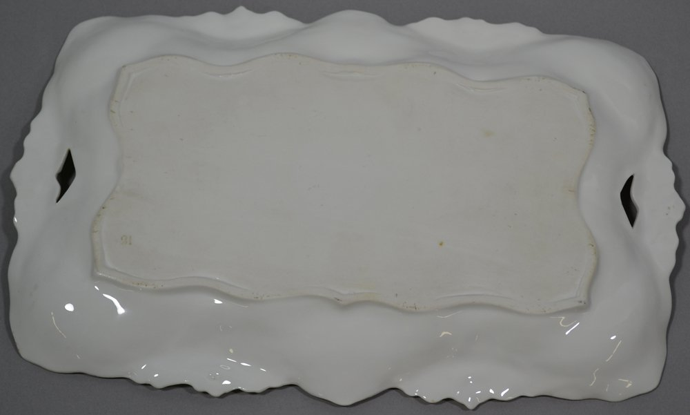 """11.75"""" UNMARKED R.S.PRUSSIA LILY MOLD DRESSER TRAY - 2"""