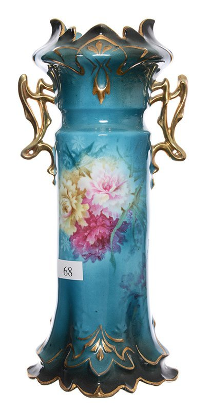 "9.75"" ROYAL VIENNA TWO-HANDLED VASE"