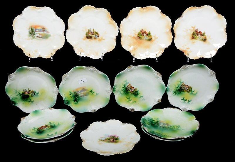 "(13) 6.25"" UNMARKED PRUSSIA DESSERT PLATES"