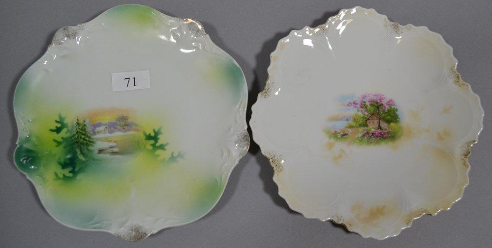 "(13) 6.25"" UNMARKED PRUSSIA DESSERT PLATES - 2"