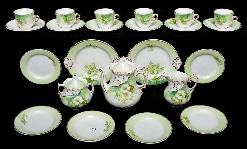 (23) PIECE CHILD'S UNMARKED PRUSSIA TEA SET
