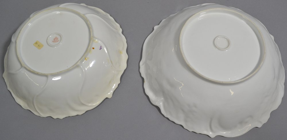 (5) PRUSSIA STYLE BOWLS IN VARIATIONS OF POPPY MOLD - 3