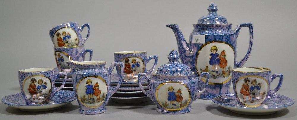 (21) PIECE GERMAN CHILD'S TEA SET - 2