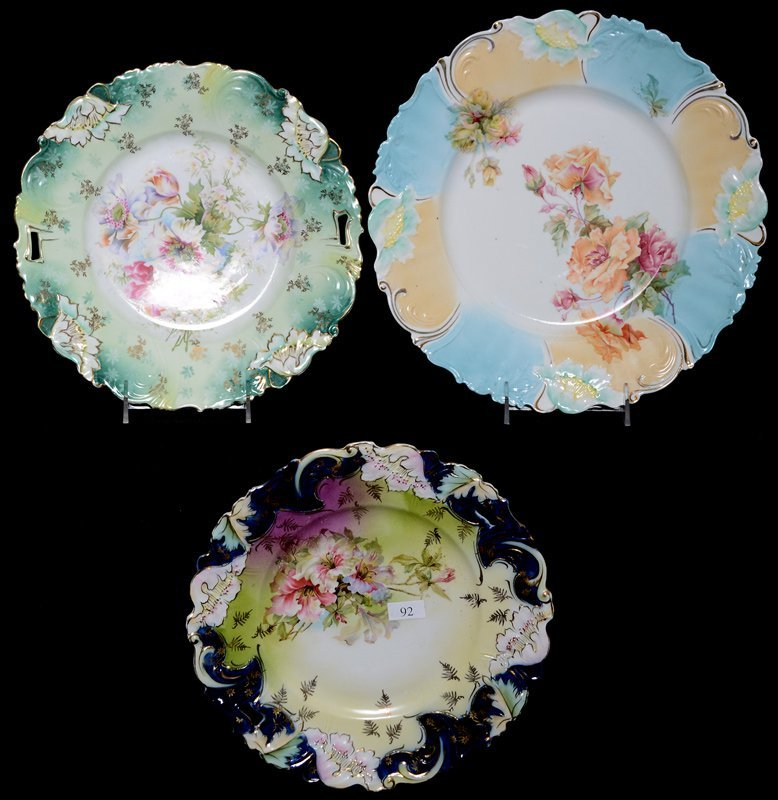 (3) UNMARKED PRUSSIA POPPY MOLD PLATES