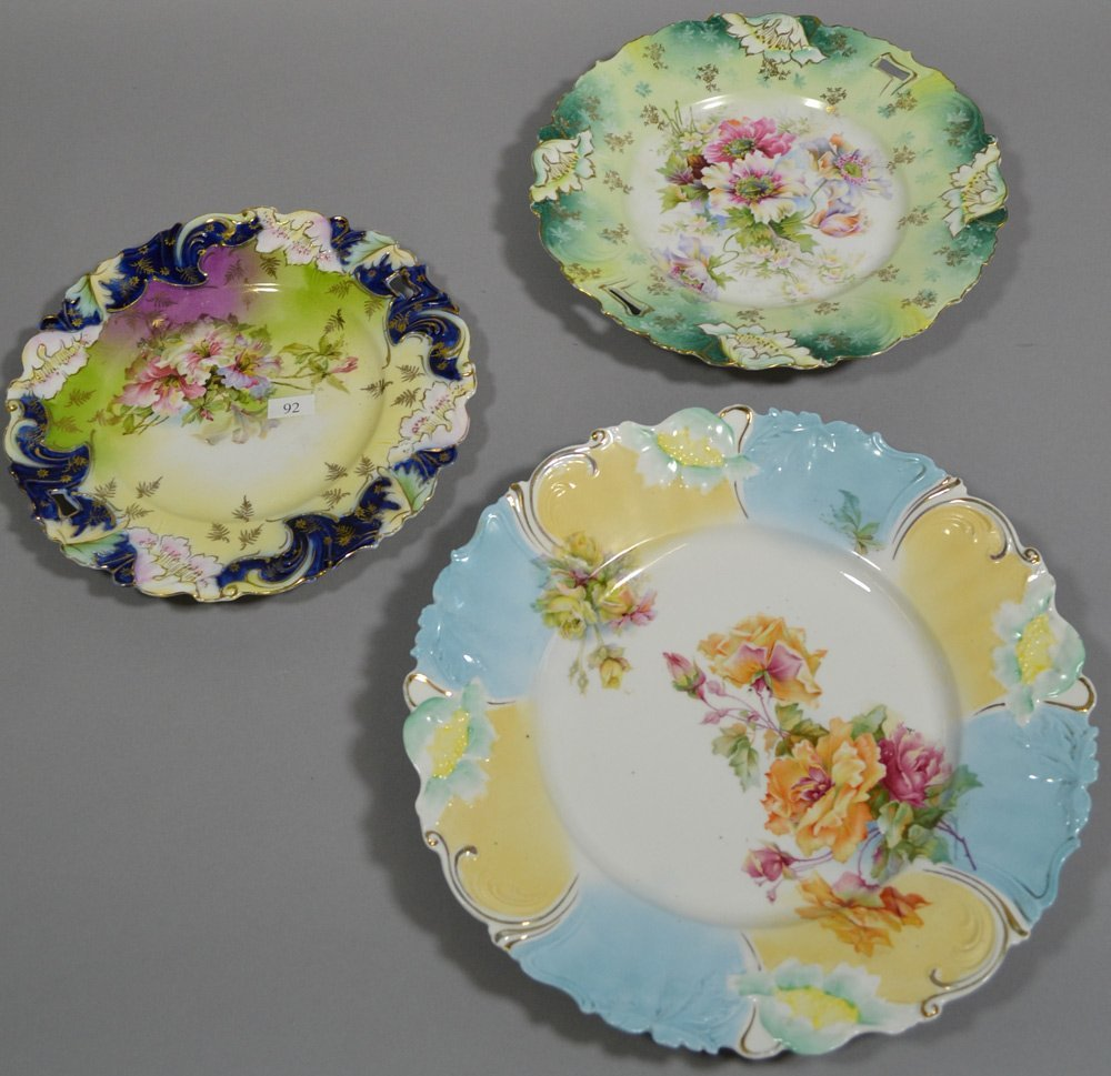 (3) UNMARKED PRUSSIA POPPY MOLD PLATES - 2