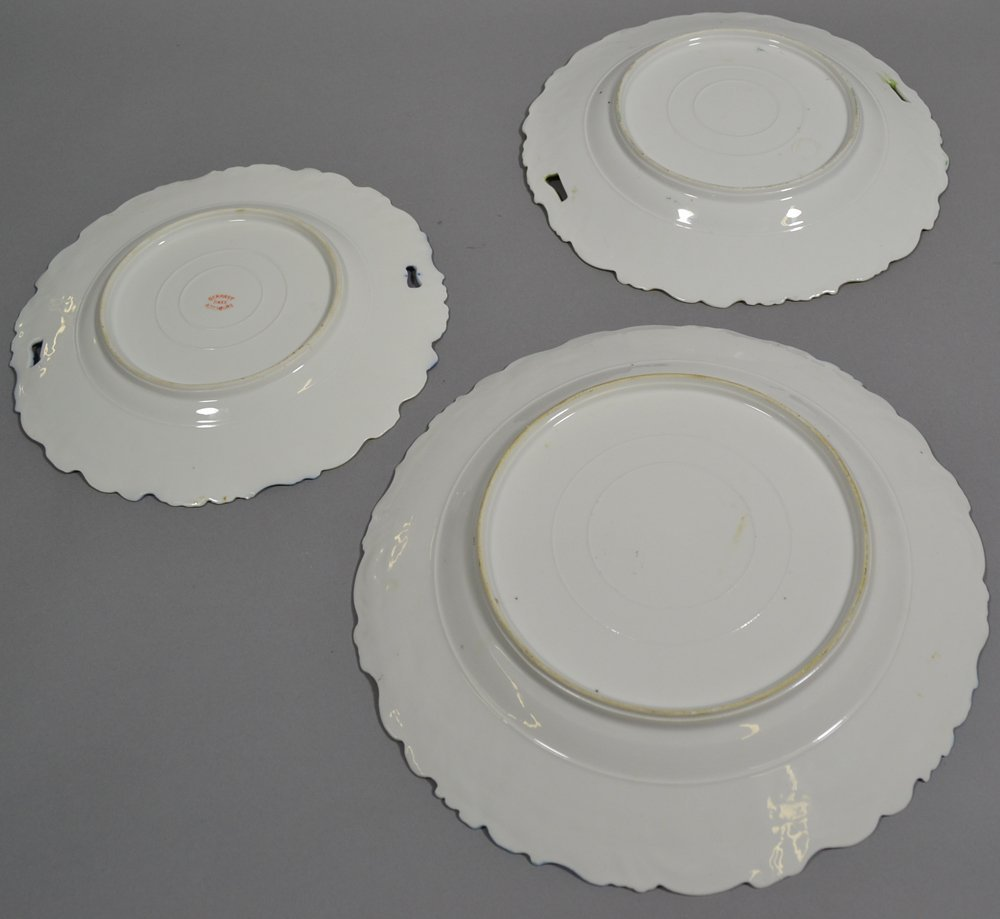 (3) UNMARKED PRUSSIA POPPY MOLD PLATES - 3