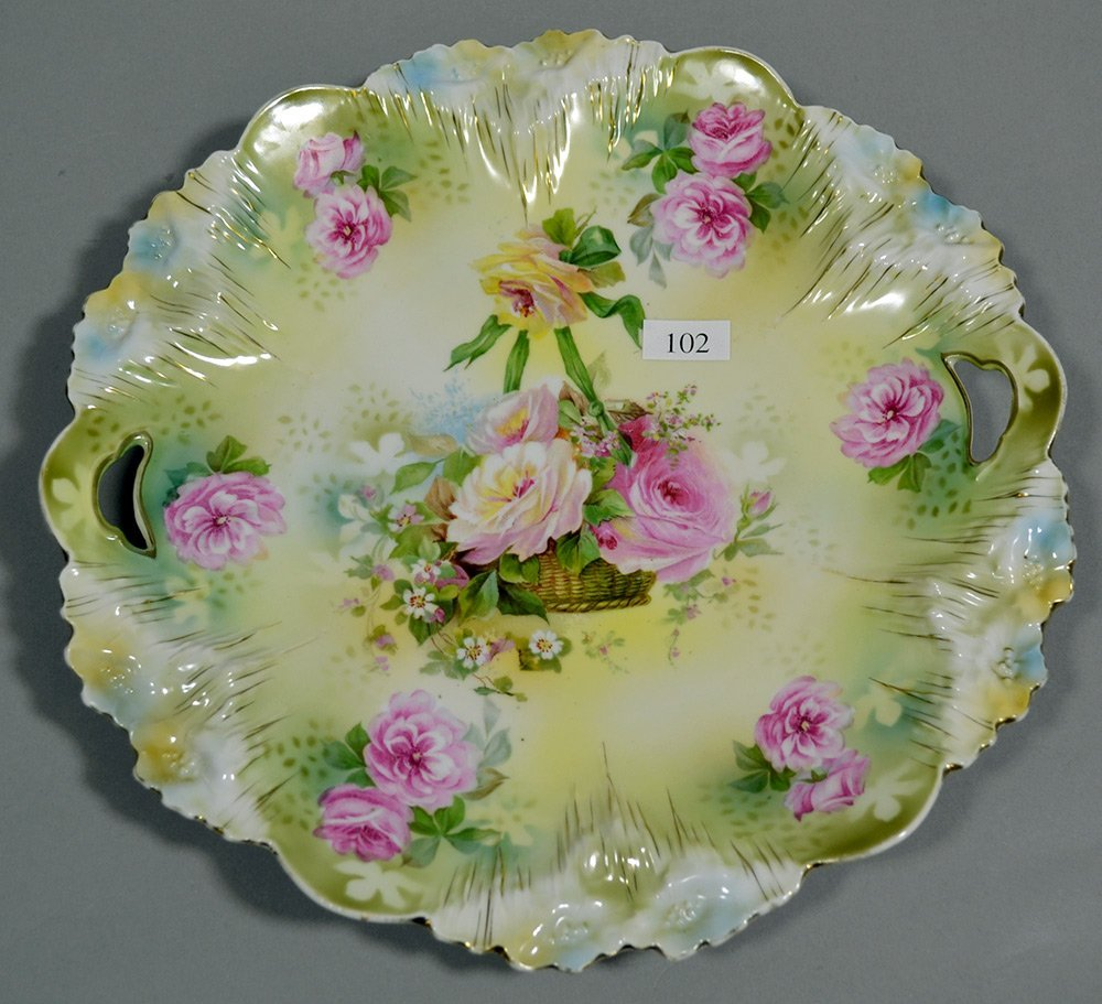 "11"" RSP ICICLE MOLD TWO-HANDLED CAKE PLATE - 2"
