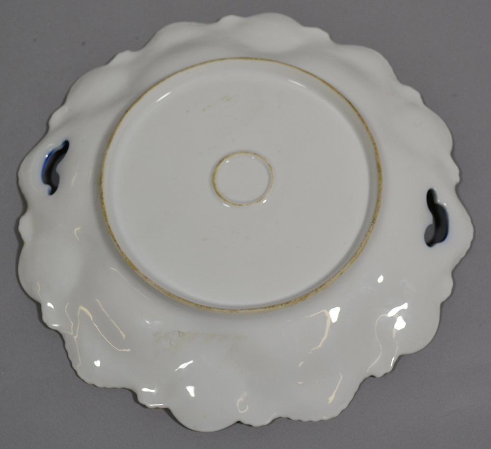 """11.25"""" UNMARKED R.S.PRUSSIA MEDALLION MOLD TWO-HANDLE - 2"""