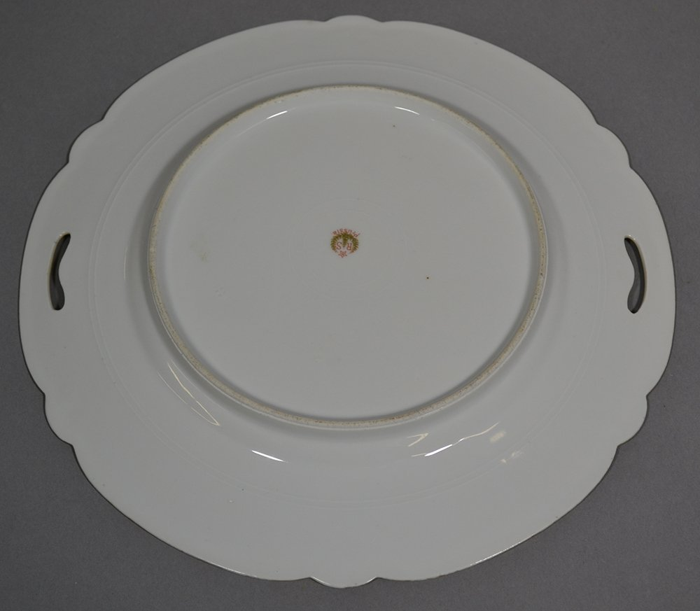 "NOVELTY 9.75"" MARKED RSP TWO-HANDLED CAKE PLATE - 2"