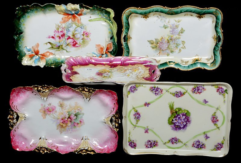 (5) PRUSSIA AND PRUSSIA STYLE DRESSER TRAYS