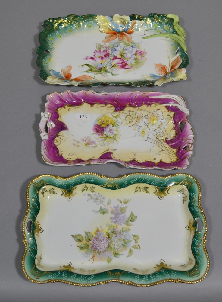 (5) PRUSSIA AND PRUSSIA STYLE DRESSER TRAYS - 2