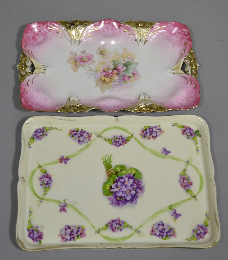 (5) PRUSSIA AND PRUSSIA STYLE DRESSER TRAYS - 4