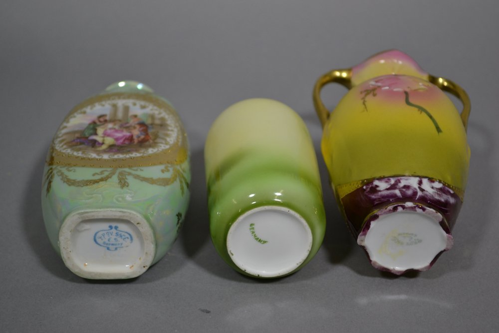 (8) R.S.PRUSSIA AND PRUSSIA STYLE VASES INCLUDING - 4