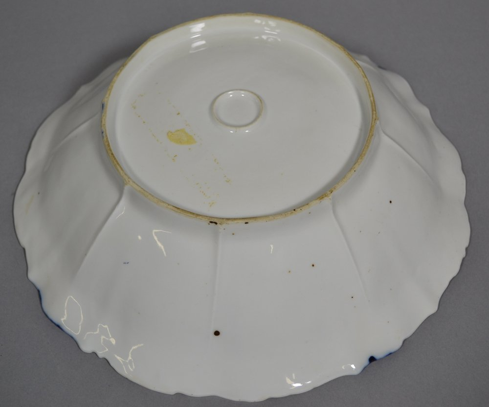 "10.5"" UNMARKED R.S.PRUSSIA FLORAL MOLD BOWL - 2"