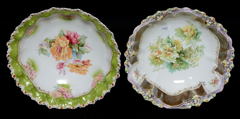 "(2) UNMARKED PRUSSIA 10"" BOWLS"