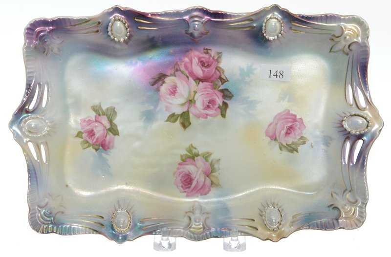 """11.75"""" RSP RIBBON AND JEWEL MOLD DRESSER TRAY"""
