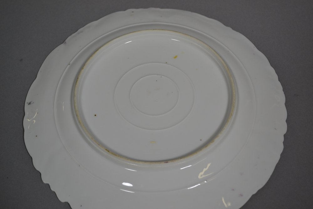 "9"" UNMARKED PRUSSIA IRIS VARIATION MOLD PLATE - 2"