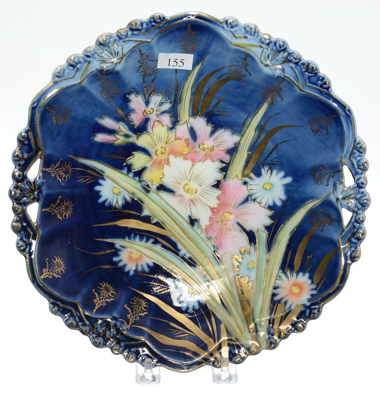 """10.5"""" R.S.STEEPLE TWO HANDLED CAKE PLATE"""