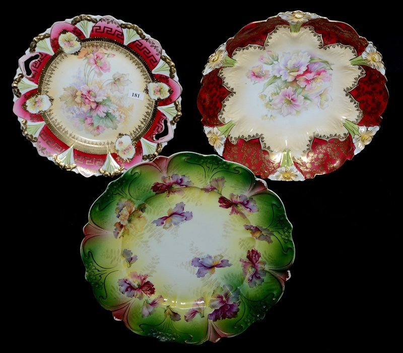 (3) R.S.PRUSSIA STYLE PLATES INCLUDING