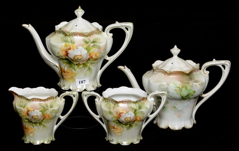 (4) R.S.PRUSSIA TEA SET ITEMS INCLUDING