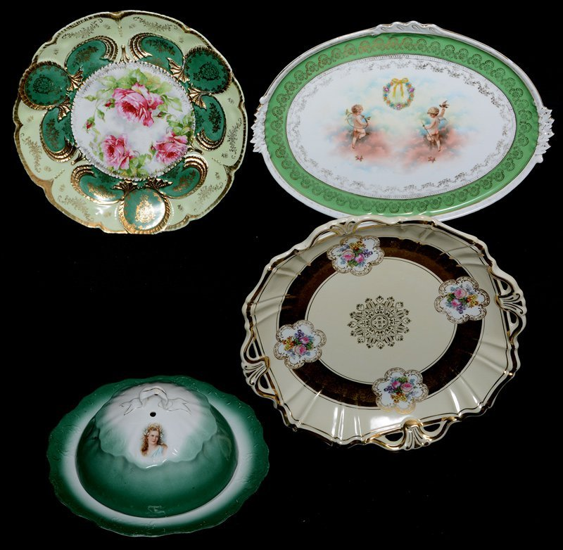 (4) ASSORTED PRUSSIA STYLE ITEMS INCLUDING