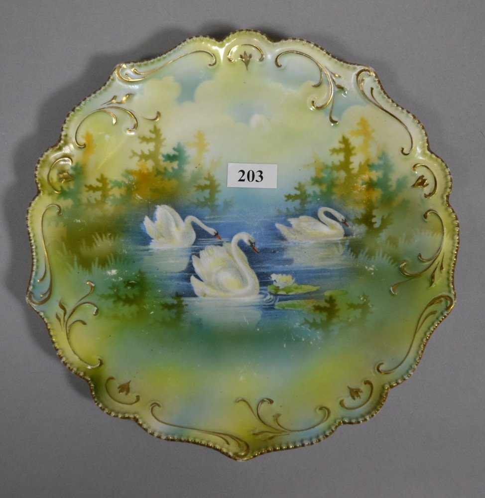 "(3) 8.5"" RSP SWAN DECOR PLATES INCLUDING - 2"
