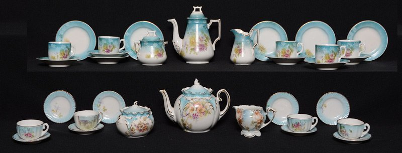 (2) RS PRUSSIA CHILD TEA SETS