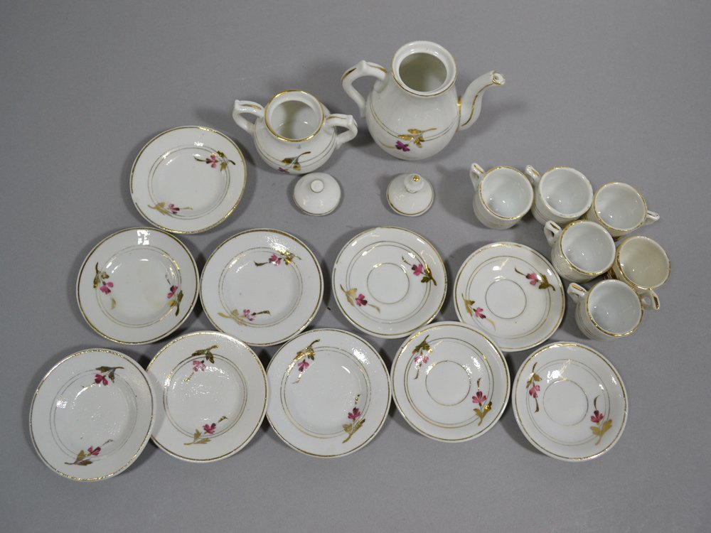 BOX LOT OF (3) CHILD TEA SETS - 6