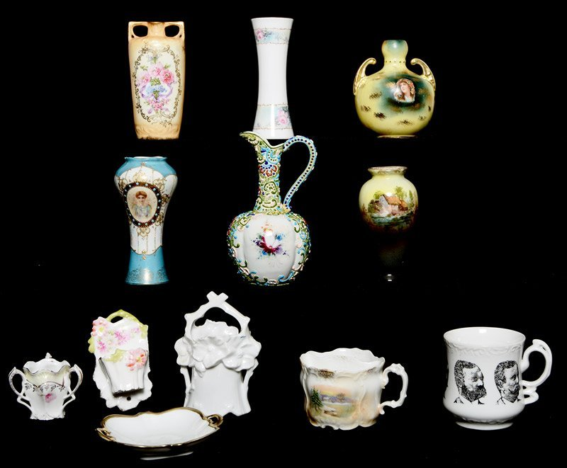 BOX LOT OF 12 MISC. PRUSSIA AND PRUSSIA STYLE ITEMS