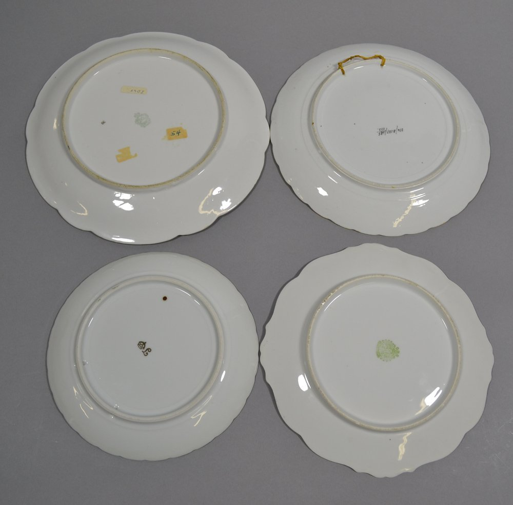 (4) PRUSSIA STYLE PLATES - 2