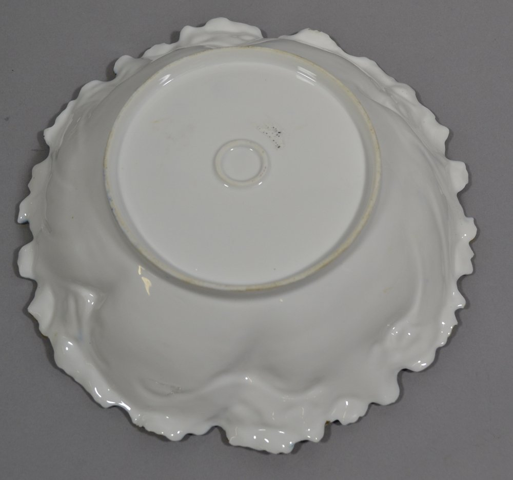"10.25"" UNMARKED R.S.PRUSSIA FLORAL MOLD BOWL - 2"